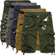 Men's Summer Army Camouflage Work Cargo Shorts Slacks Pants Trousers