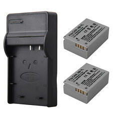 2PCS NB-7L Li-ion Battery + USB Charger For Canon PowerShot G10 G11 G12 SX30IS