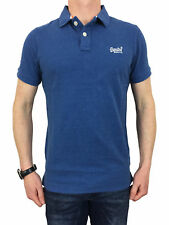 Superdry Mens Classic Fit Pique Polo Shirt in Boston Blue Grit