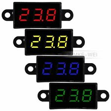 "Mini DC 3.5-30V Waterproof 0.28"" LED Digital Voltmeter Voltage Meter Panel New"