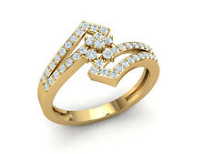 Genuine 1ct Round Cut Diamond Engagement Anniversary Fancy Ring Solid 14K Gold