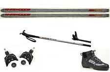 NEW Metal Edge XC cross country 75mm SKIS/BINDINGS/BOOTS/POLES PACKAGE - 207cm