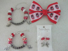 ST GEORGE DRAGONS -  EUROPEAN STYLE EARRINGS, BRACELETS and HAIR BOW