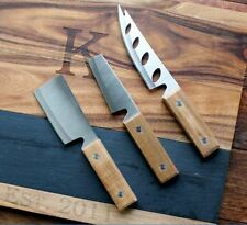 Cutting Board Double Sided Chopping Block & Slate Cheese Knives Set Personalized