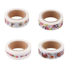 School Office Washi Paper DIY Gift Packing Sticker Masking Adhesive Tape 3pcs