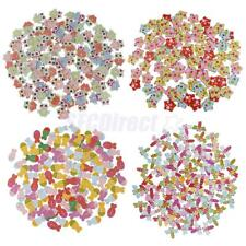 100pcs Cartoon 2 Holes Wooden Buttons Sewing Scrapbooking Crafting Decorating