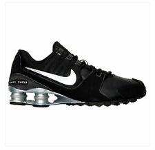 Nike Shox Avenue Leather Running Shoes Mens Black Silver 833584 001 DOUBLE BOXED