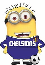 MINIONS FOOTBALL T SHIRT CHELSEA MENS WOMENS KIDS FUNNY SOCCER TEAM SHIRTS TOPS