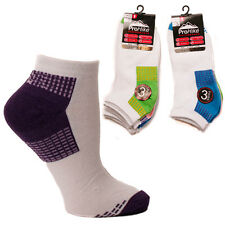 New  LADIES PROHIKE TRAINER SOCKS COLOURED HEEL One Size Pack Of 3