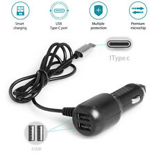 Car Charger Dual USB Ports+Type C Charger Cable For Samsung S8/Plus Note 8