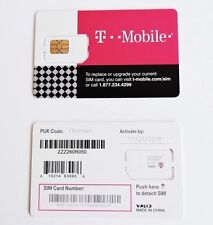 Preloaded T-Mobile Sim $45/$55/$75 Plan T-mobile Prepaid Sim Card  Activated!!!