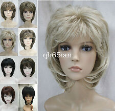 Ladies wig Short Curly Women Daily Natural Hair Black Brown Blonde Cosplay wigs
