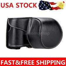 US Camera Bag Case Cover Pouch for Sony A5000 A5100 NEX 3N PU Leather Black TT