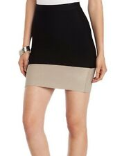"""NEW WITH TAG $128 BCBG MAX AZRIA """"JOELLE"""" TWO-TONE BANDAGE PENCIL  D104 SKIRT"""