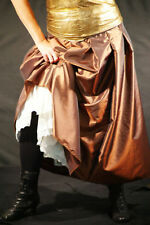 Steampunk-Victorian-Cosplay-LARP-COPPER TAFFETA SKIRT & PETTICOAT Sml-Plus Sizes