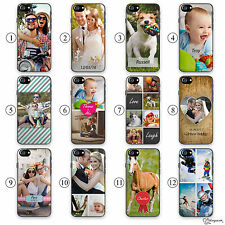 HAIRYWORM PERSONALISED PHOTO EFFECTS, INITIAL, TEXT PLASTIC PHONE CASE FOR APPLE