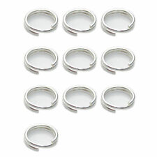 4mm 5mm 6mm 7mm 8mm sterling silver split rings .925 Keyring charm rings