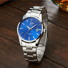 Analog Date Army Sport Watch Stainless Steel Quartz Fashion Mens Wristwatch