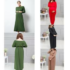 Chic Pregnant Women Maxi Dresses Maternity Gown Photography Props Photo Shoot