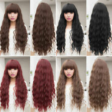 Beauty  Womens Lady Long Curly Wavy Hair Full Wigs Cosplay Party  LRK