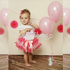Toddler Baby Girls Birthday Party Wedding Pageant Flower Tutu Dress Outfit 6-24M