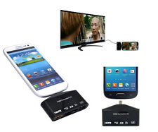 5in1 Micro USB OTG SD TF Card Reader Writer Combo to HDMI HDTV TV Adapter Kit
