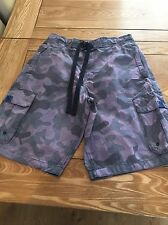 Mens Shorts Size M By North Coast Navy Camouflage Surf Swimming Casual