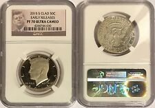 2015 S PROOF CLAD KENNEDY HALF DOLLAR NGC PF70 UC ER EARLY RELEASES  LABEL