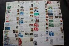 EXTRAORDINARY LOT 42 CHRISTMAS STAMP NICE CACHETS FIRST DAY COVERS FDC 1975-1988