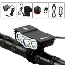 10000Lm 3x XML T6 LED Mountain Bike Headlight Bicycle Headlamp 6400mAh+Charger