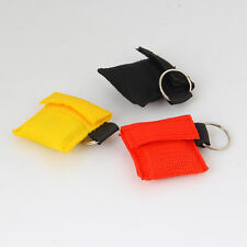 First Aid Keychain Emergency CPR Resuscitator Key Ring Face Shield Mask NEW