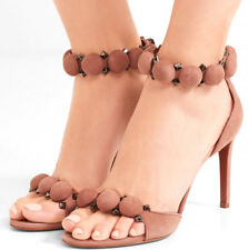 AZZEDINE ALAIA BOMBE NUDE SUEDE SANDALS SIZE 6 7 8 9 10 11 HIGH SHOES 90 HEELS