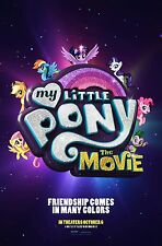 "My Little Pony The Movie Poster 2017 New Kids Film Print 13x20"" 24x36"" 32x48"" #1"