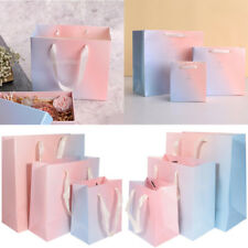 5x Ombre Rainbow Wedding Party Supplies Paper Bag Merchandise Shopping Gift Bags