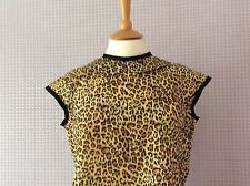 Leopard/animal print Peter Pan collar blouse
