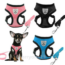 XS S M Dog Harness Mesh Vest Collar Leash for Poodle Bulldog chihuahua yorkie
