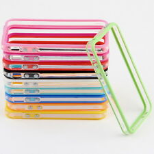 TPU Silicone Frame Bumper Hard Case Cover Skin for iPhone 4G 4S W HT