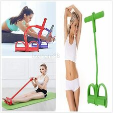Four Elastic Band Fitness Resistance Exercise Equipment for Yoga Workout HT