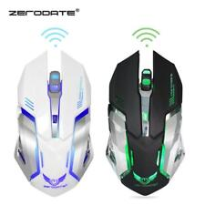 Computer Gaming Mouse 2400 DPI 6 Button USB LED Light Optical Wireless