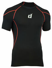 Didoo Mens Half Sleeves Shirts Compression Base Layers Skin Fit Tops Running GYM