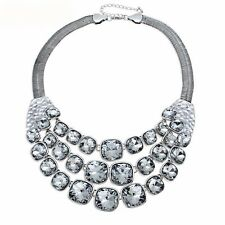 Chunky Chain Vintage Glass Bead Statement Maxi Choker Necklace For Woen