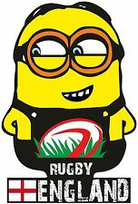 FUNNY MINION ENGLAND RUGBY T SHIRT MENS WOMENS KIDS SIZES LADIES TOPS ENGLISH
