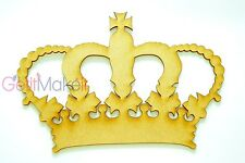 Queen crown MDF Shape Embellishment for craft, handmade crafts, Craft shapes
