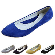 Kala Ballet Flats Casual ballerinas womens Suede Slip on Pretty dolly shoes Size