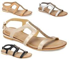 WOMENS LOW WEDGE OPEN TOE T-BAR SLINGBACK PEEP TOE GLADIATOR SUMMER SANDALS