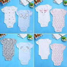 Baby Girl Boy Kids Summer Romper Jumpsuit Bodysuit Outfits Sunsuit 2PCS Clothes