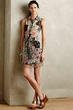 NWT - ANTHROPOLOGIE - ANNA SUI - Patchworked Silk Dress size 8 (Red Motif) $497