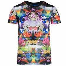 Adidas Originals Mens Trefoil Logo Floral Print Short Sleeve T-Shirt (#10107)