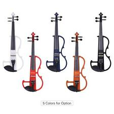 4/4 Solid Wood Electric Silent Violin Fiddle Style-2 with Bow Hard Case H2S6
