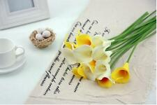 New Latex Real Touch Calla Lily Flower Bouquets Bridal Wedding Home Decor